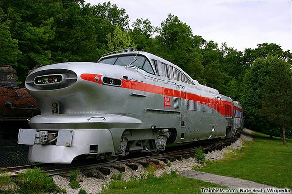 美国密苏里州圣路易斯,交通运输博物馆所收藏的Aerotrain。(图/Nate Beal/Wikipedia)