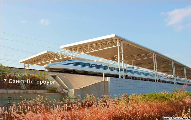 2012年10月28日。京沪高铁。CRH380A出站沧州西站。(图/Francis)