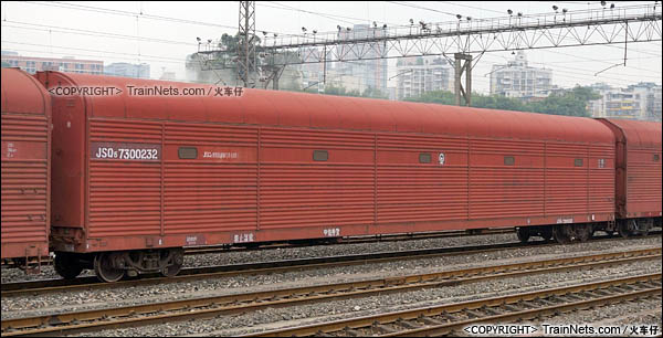 2016年4月。四川。JSQ5型双层运输汽车专用车。(图/火车仔/DSC09480)