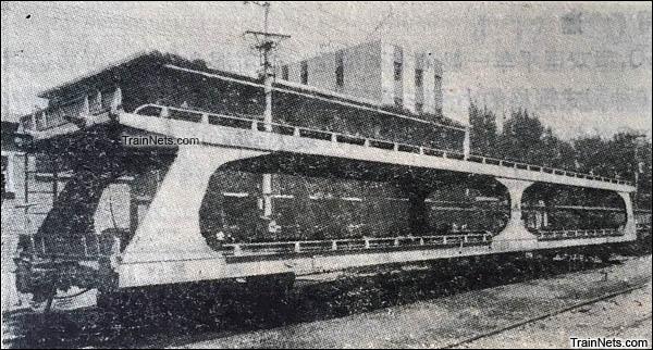 JSQ1型双层汽车运输车。(图/国产铁路货车)