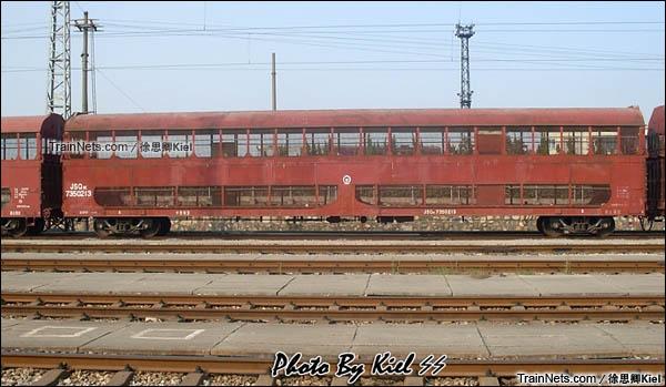 经过改造的JSQ1K型双层汽车运输车。(图/徐思卿)