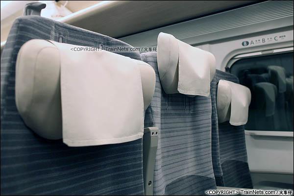 2012年2月。日本。E5系新干线列车,普通客室。可调式头枕。(图/火车仔)