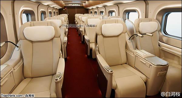 E5系新干线列车。Gran Class 特等座席。(图/白河桜)
