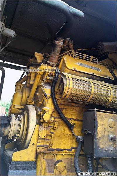 2016年6月。南京。GKD5C型内燃机车。CAT柴油机。(图/宁东的狮子)