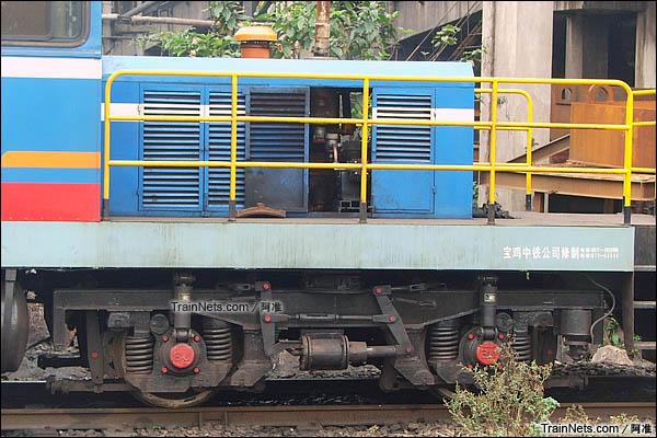 2006年2月。广州钢铁厂。GCY350型液力传动内燃机车。转向架。(图/阿准)