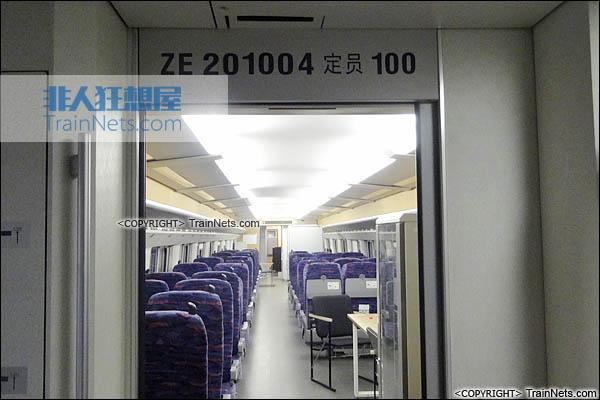 CRH2-010A综合检测车。ZE201004车(4号车)。(图/TrainNet)