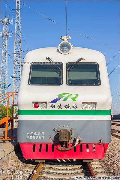 2016年6月。用作朔黄铁路通勤车的GCY720型公务监察车。(图/埃尔文的小猫咪)