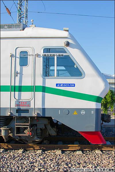 2016年6月。朔黄铁路GCY720型公务监察车。(图/埃尔文的小猫咪)