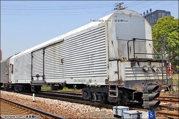 B10A型机械保温车(已拆除制冷机组)。(图/徐思卿)