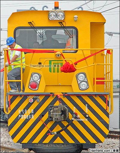 2016年7月。配属石家庄地铁的GCY-450型内燃机车。(图/李昂)