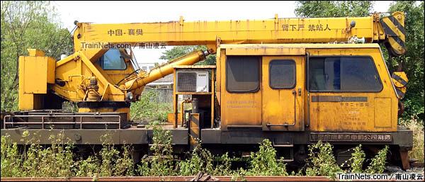 GQ16-5型轨道起重作业车。(图/南山凌云)