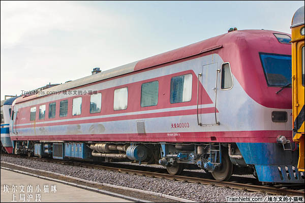 2016年8月。西宁机务段。青藏铁路天安型公务车。(图/埃尔文的小猫咪)