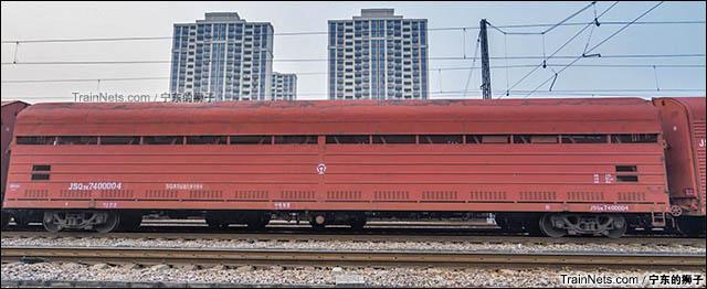 2016年11月。南京。JSQ3K型双层汽车运输车。(图/宁东的狮子)