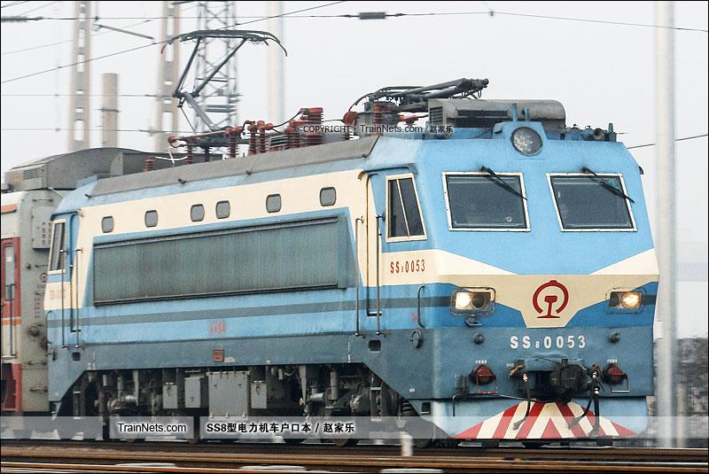 2016年12月3日。平南车站。SS8-0053。(图/赵家乐)