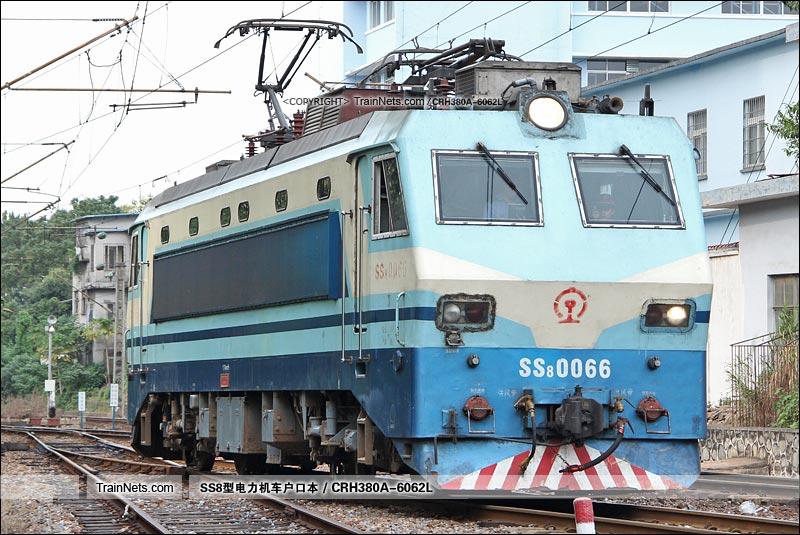 2015年11月9日。广州机务段。SS8-0066。(图/CRH380A-6062L)