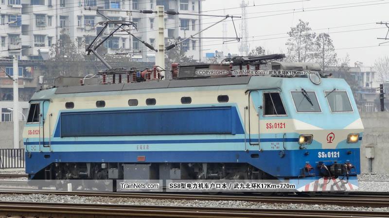 2014年03月20日。武昌站。SS8-0121。(图/武九北环K17Km+770m)