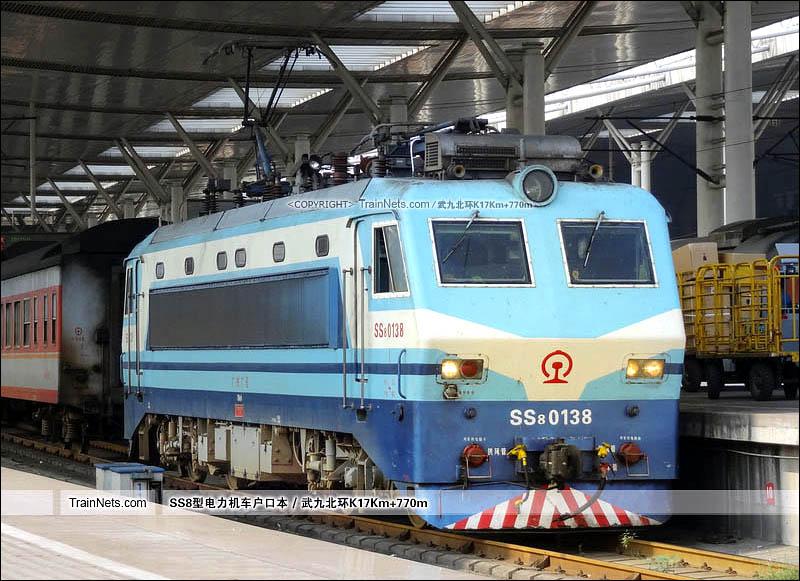 2012年09月22日。武昌站。SS8-0138。(图/武九北环K17Km+770m)