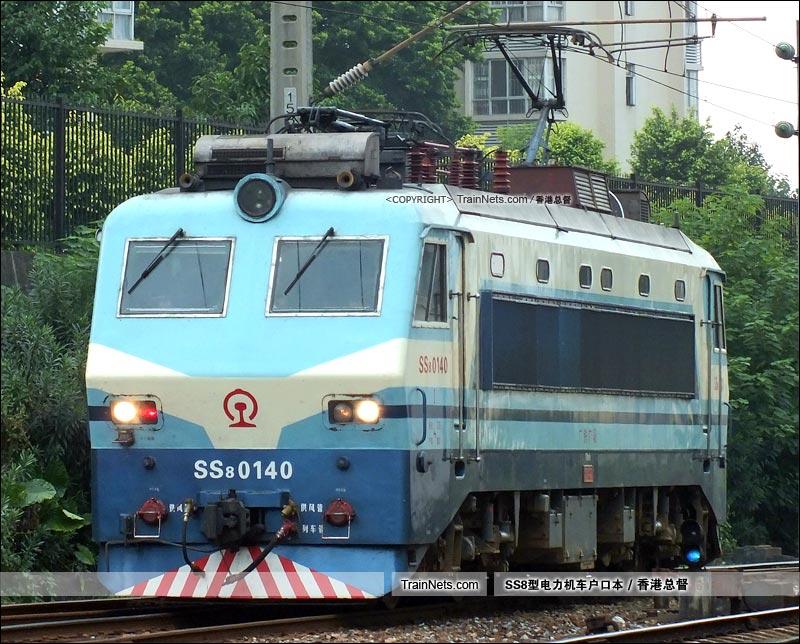 2015年8月20日。广州机务段。SS8-0140。(图/香港总督)
