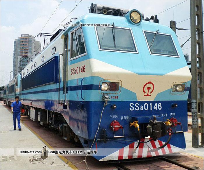 2014年。广州机务段。SS8-0146。(图/范国平)