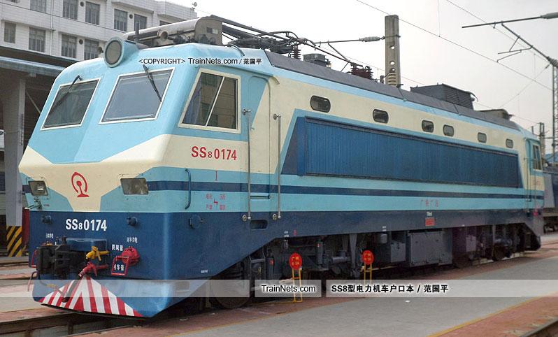 2014年。广州机务段。SS8-0174。(图/范国平)