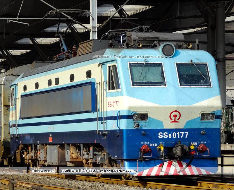 2012年07月07日。武昌站。SS8-0177。(图/武九北环K17Km+770m)