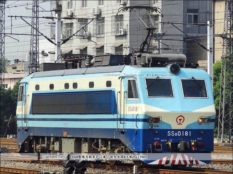 2012年09月22日。武昌站。SS8-0181。(图/武九北环K17Km+770m)