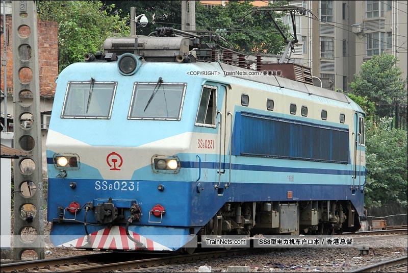 2015年11月11日。广州机务段。SS8-0231。(图/香港总督)