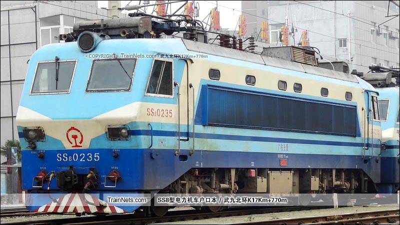 2014年11月11日。武客機。SS8-0235。(图/武九北环K17Km+770m)